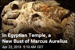 In Egyptian Temple, a New Bust of Marcus Aurelius