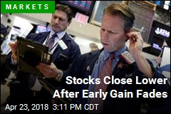 Stocks Close Lower After Early Gain Fades