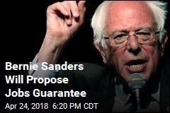 Bernie Sanders Will Propose Jobs Guarantee