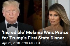 State Dinner Puts Melania in the Spotlight