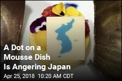 A Dot on a Mousse Dish Is Angering Japan