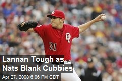 Lannan Tough as Nats Blank Cubbies