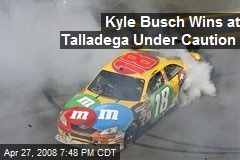 Kyle Busch Wins at Talladega Under Caution
