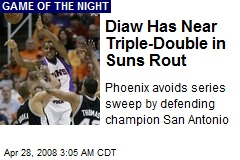 Diaw Has Near Triple-Double in Suns Rout
