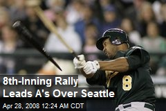 8th-Inning Rally Leads A's Over Seattle