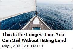 This Is the Longest Straight Line You Can Sail