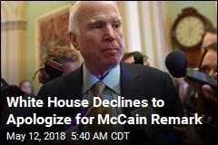White House Declines to Apologize for McCain Remark