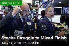 Stocks Struggle to Mixed Finish