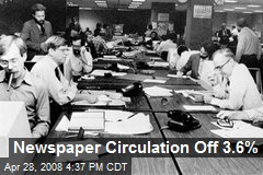 Newspaper Circulation Off 3.6%