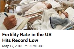 Fertility Rate in the US Hits Record Low