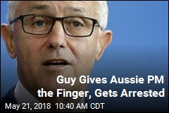 Aussie Fined $190 After Giving PM the Finger in a Pub