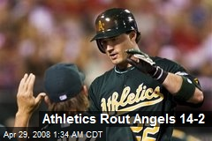 Athletics Rout Angels 14-2