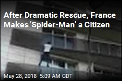 'Spider-Man' Climbs 4 Storeys to Save Boy