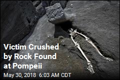 Victim Crushed by Rock Found at Pompeii