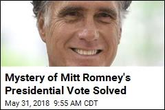 Mystery of Mitt Romney's Presidential Vote Solved