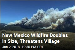 New Mexico Wildfire Threatens Village, Boy Scout Camp