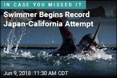 Swimmer Begins Record Japan-California Attempt