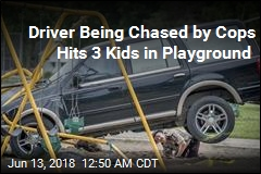 Driver Being Chased by Cops Hits 3 Kids in Playground