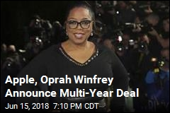 Apple, Oprah Winfrey Announce Multi-Year Deal