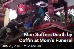 Man Suffers Death by Coffin at Mom's Funeral