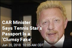CAR Balks: Tennis Great Is No Diplomat
