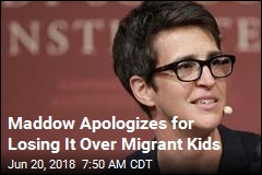 Maddow Ends Show in Tears Over Migrant Kids