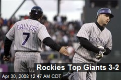 Rockies Top Giants 3-2