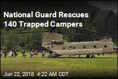 National Guard Rescues 140 Trapped Campers