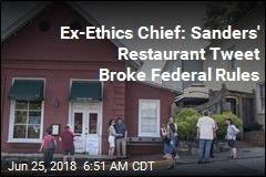 Sanders Accused of Breaking Ethics Rules With Restaurant Tweet