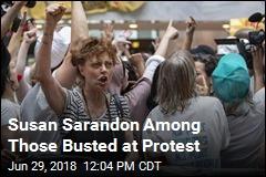 Among the Arrests at Trump Protest: Susan Sarandon