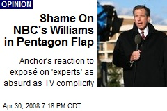 Shame On NBC's Williams in Pentagon Flap