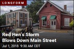 Red Hen's Storm Blows Down Main Street