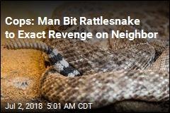 Cops: Man Bit Rattlesnake to Exact Revenge on Neighbor