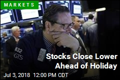 Stocks Close Lower Ahead of Holiday