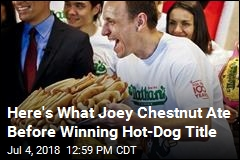 Here's What Joey Chestnut Ate Before Winning Hot-Dog Title