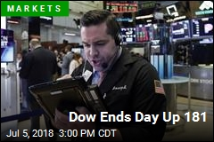 Dow Ends Day Up 181