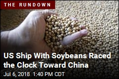 US Ship With Soybeans Raced the Clock Toward China