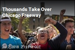 Thousands Take Over Chicago Freeway