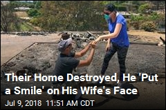 Their Home Destroyed, He Proposed in the Ashes