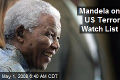 Mandela on US Terror Watch List