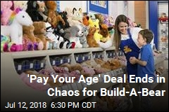 'Pay Your Age' Proves Too Popular for Build-A-Bear