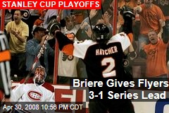 Briere Gives Flyers 3-1 Series Lead
