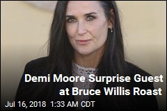 Demi Moore Surprise Guest at Bruce Willis Roast