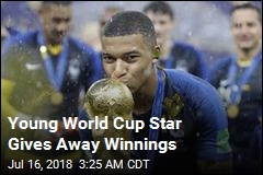 Young World Cup Star Gives Away Winnings