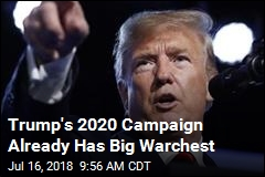 Trump's 2020 Campaign Already Has Big Warchest