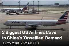 US Airlines Cave to China on Taiwan