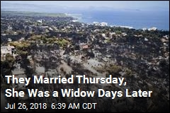 Honeymooners Fled the Flames on Foot. Only 1 Survived