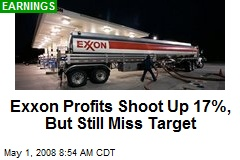 Exxon Profits Shoot Up 17%, But Still Miss Target