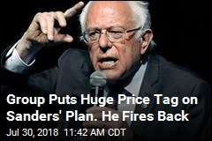 Sanders' Insurance Idea Gets a Very Large Price Tag