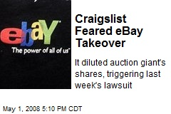 Craigslist Feared eBay Takeover